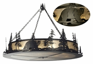 Meyda Tiffany 10959 Northwoods Bear At Dusk 12 Lamp Black/Silver Hanging Light Fixture