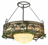 Meyda Tiffany 106194 Fox Run 72 Inch Diameter Timeless Bronze 20 Lamp Ceiling Pendant Light