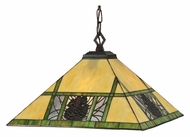 Meyda Tiffany 106491 Pinecone Mission 17 Inch Tall Pendant Light Fixture - Rustic
