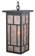 Meyda Tiffany 106532 Hyde Park Craftsman 19 Inch Tall Lighting Pendant With Silver Mica