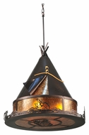Meyda Tiffany 106545 Teepee Athabasca 24 Inch Diameter Mahogany Bronze Finish Hanging Light Fixture