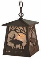 Meyda Tiffany 133124 Rustic Moose At Dawn Mini Drop Lighting