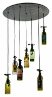 Meyda Tiffany 133794 Tuscan Vineyard 7 Wine Bottle Multi Pendant - 30 Inch Diameter