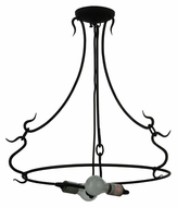 Meyda Tiffany 131192 3 Arm Black Powder Coat Serepentine Ring Pendant Light
