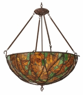 Meyda Tiffany 120582 Branches 43 Inch Diameter Rustic Inverted Pendant Light Fixture