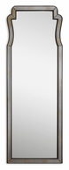 Uttermost 8094 Belen Dark Mocha Framed Wall Mounted Transitional Mirror - 66 Inches Tall