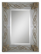 Uttermost 8104 Dolianova Gold Leaf Scrollwork 50 Inch Tall Heavily Antiqued Mirror