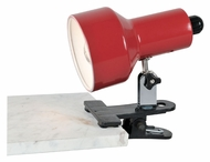 Lite Source LS114RED Clip-On II Lite Red 7 Inch Wide Clamp On Light