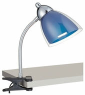 Lite Source LS21613CBLU Selika Clip-on Desk Lamp in Blue