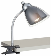 Lite Source LS21613CSMOKE Selika Clip-on Desk Lamp - Smoke Colored Shade