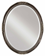 Uttermost 08566-B Newport Wall Mounted Dark Bronze Wash Traditional Oval Mirror