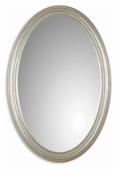 Uttermost 08601-P Franklin Antique Silver Leaf 31 Inch Tall Oval Mirror