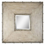 Uttermost 9500 Mitchell Natural Wood Framed 31 Inch Tall Small Square Mirror