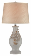 Lite Source LS21907 Florissa Curved Body 26 Inch Tall Ivory Ceramic Table Lamp