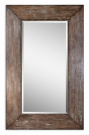 Uttermost 9505 Langford Antique Hickory 80 Inch Tall Wooden Frame Rectangular Mirror