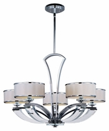 Maxim 39825BCWTPC Metro Polished Chrome 34 Inch Diameter Large 5 Lamp Chandelier Light Fixture