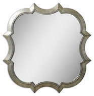 Uttermost 9520 Farista Curved Frame 42 Inch Diameter Wall Mirror - Antique Silver