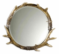 Uttermost 11556-B Stag Horn 24 Inch Tall Small Rustic Circle Mirror
