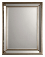 Uttermost 11765-B Jansen Antique Silver Leave Panel Framed Mirror - 26 Inches Tall