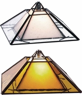 Tech Oak Park Mission Halogen Art Glass Pendant Light