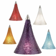 Tech Sugar Colored Cones Low-Voltage Halogen Art Glass Pendant Light