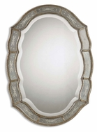 Uttermost 12530-B Fifi Antique Gold Leaf Finish Etched Frame Traditional Mirror - 35 Inches Tall