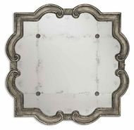 Uttermost 12597-P Prisca Small 36 Inch Wide Traditional Rosetted Antique Mirror