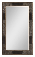 Uttermost 12718-B Serafina Oversized Antiqued Gold Leaf Dark Mahogany Wall Mirror - 78 Inches Tall