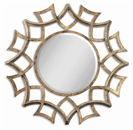 Uttermost 12730-B Demarco Antiqued Gold 40 Inch Tall Circular Contemporary Mirror