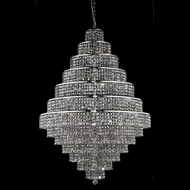Elegant 2039G42C-SS-RC Maxim 38-lamp Extra Large Foyer Lighting Chandelier with Silver Shade Crystals
