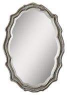 Uttermost 12832 Dorgali Curved 40 Inch Tall Aged Slate Blue Beveled Mirror