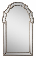 Uttermost 12837 Petrizzi 35 Inch Tall Antiqued Silver Leaf Decorative Arch Mirror