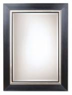 Uttermost 13131-B Whitmore Matte Black Solid Wood Frame Mirror - 54 Inches Tall