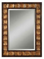 Uttermost 13294-B Justus Mahogany Wood Tone 38 Inch Tall Wall Mounted Mirror