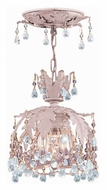 Crystorama 5235-BH-CLEAR Melrose Semi Flush Blush Finish 6 Inch Diameter Ceiling Lamp - Clear Crystal