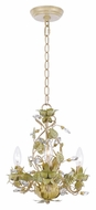 Crystorama 4843-CT Josie Champagne Finish 13 Inch Diameter Rustic Hanging Lamp - Champagne