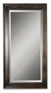 Uttermost 01018-B Palmer Heavily Distressed Black Stained Wood 70 Inch Tall Wall Mirror