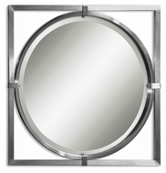 Uttermost 01053-B Kagami Wall Mounted 30 Inch Tall Modern Circle Mirror
