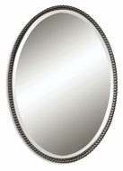 Uttermost 01101-B Sherise 32 Inch Tall Beaded Frame Bronze Small Mirror