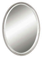 Uttermost 01102-B Sherise Wall Mounted Brushed Nickel 32 Inch Tall Home Mirror