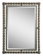 Uttermost 1106 Garrick Twisted Wrought Iron 35 Inch Tall Wall Mirror