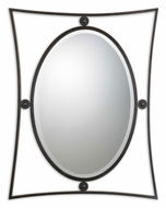 Uttermost 1107 Hadrian Contemporary Mocha Black 38 Inch Tall Oval Wall Mirror