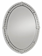 Uttermost 05003-B Graziano Oval 33 Inch Tall Frameless Beveled Mirror