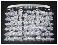 PLC 96969PC Bubbles Six-light Contemporary Chandelier