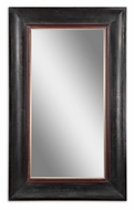 Uttermost 7041 Lerrone Oversized Aged Black Frame Wall Mirror - 75 Inches Tall