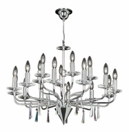 PLC 81752-PC Mistral Contemporary Crystal Chandelier