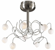 PLC 6039-SN Fusion 9-Light Chandelier in Satin Nickel