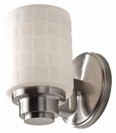 Feiss VS32001-BS Wadsworth 7 Inch Tall Brushed Steel Transitional Wall Sconce Lighting