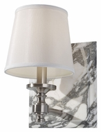 Feiss VS34001-BS Carrollton 10 Inch Tall Transitional Brushed Steel Wall Light Sconce