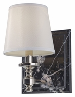 Feiss VS34001-PN Carrollton Polished Nickel 10 Inch Tall Lamp Sconce - Transitional